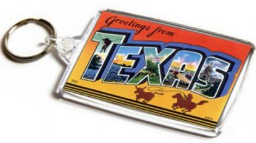 Greetings From Texas Jumbo Keyring
